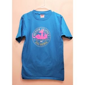 [Vintage] Womens Blue Zoo T-shirt Retro St…